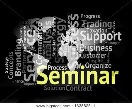 Seminar Word Meaning Meeting Workshop And Speech