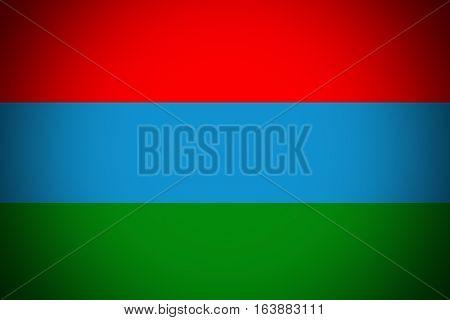 Karelia flag illustration symbol. Coat of arms of Karelia