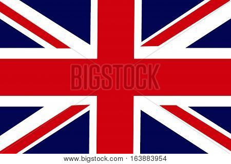 United Kingdom flag illustration symbol. The kingdom
