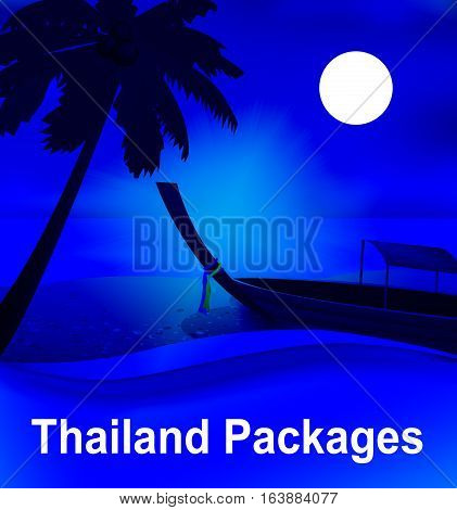 Thailand Packages Shows Fully Inclusive 3D Illustration