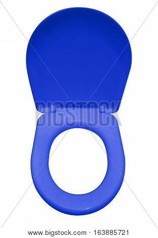 Toilet Seat Isolated - Dark Blue