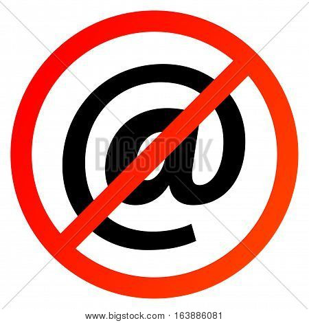 No Spam Sign or symbol, vector illustration