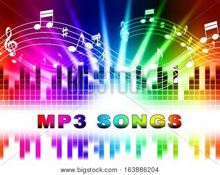 Mp3 Songs Shows Melody Listening And Sound Tracks