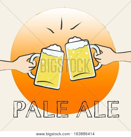 Pale Ale Shows Light Beer Or Malt