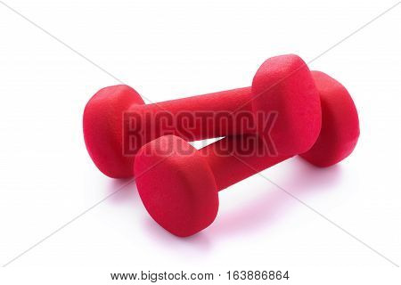 Dumbbell. Fitness and health. Isolated on white background