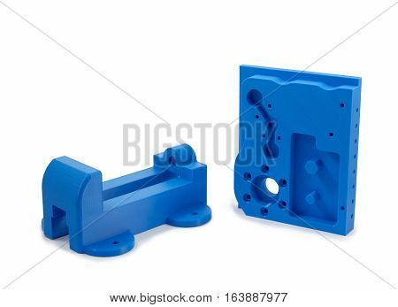 Industrial Machine Parts Printed With 3D Printer