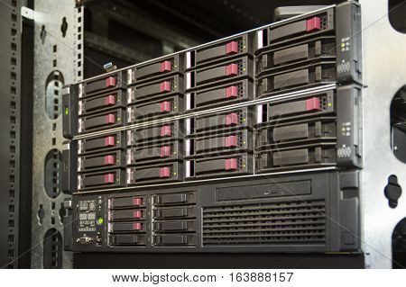 Network Attached Storage (NAS) Server Rack System