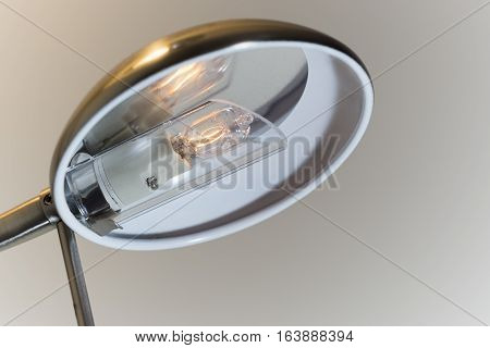 Small Ignited Bulb Inside The Modern Lamp