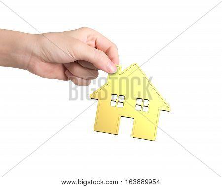 Hand Holding Golden House