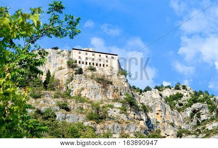 Italy Sulmona the St. Onofrio hermitage retreat of the Pope Celestino V