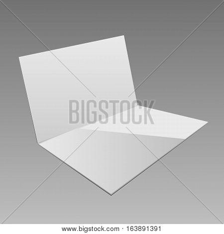 White Empty Open Folder Template Isolated Eps 10 Vector