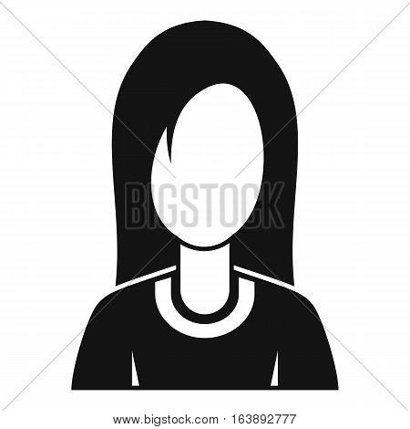 Female avatar profile picture icon. Simple illustration of female avatar profile picture vector icon for web