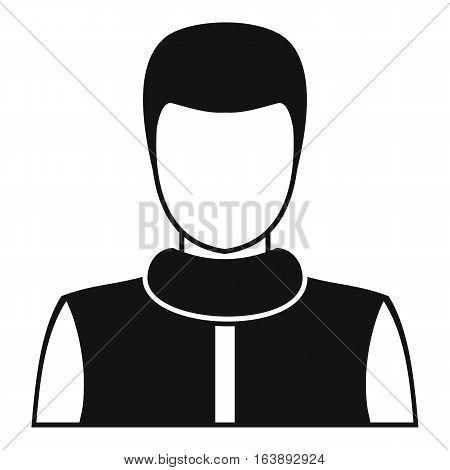 Man avatar profile icon. Simple illustration of man avatar profile vector icon for web