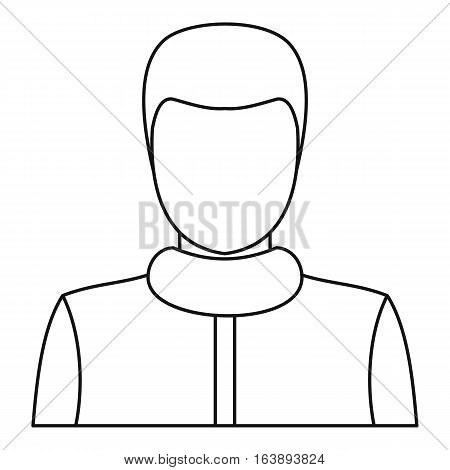 Male icon. Outline illustration of male vector icon for web