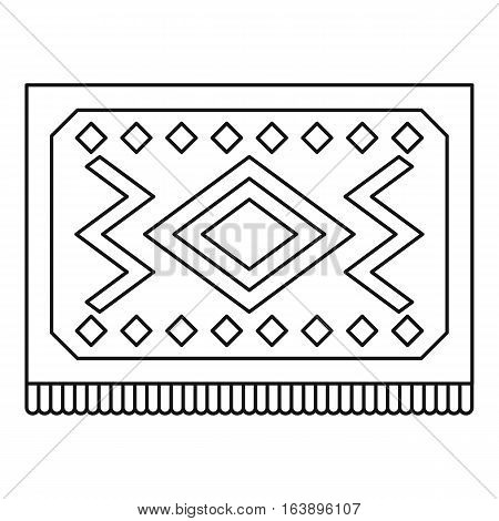 Turkish carpet with geometric pattern icon. Outline illustration of turkish carpet with geometric pattern vector icon for web