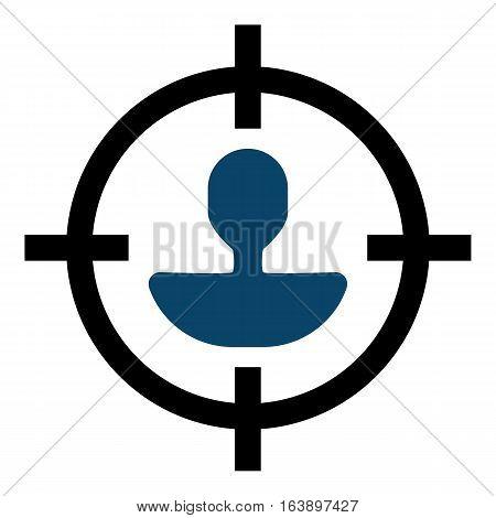 Segmentation illustration - Flat design icon - black and blue