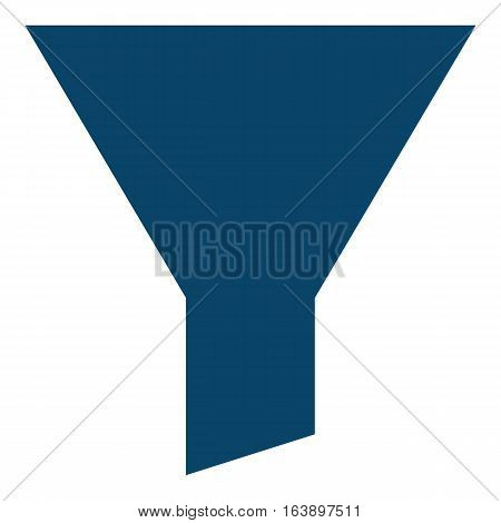 Funnel illustration - Flat design icon - blue