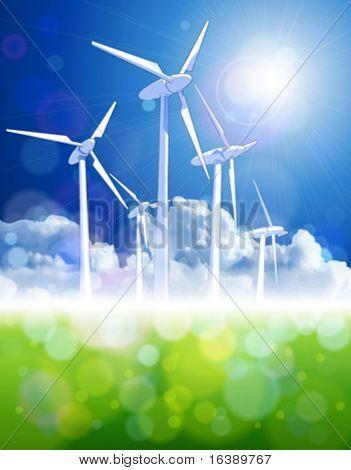 wind energie & green meadow