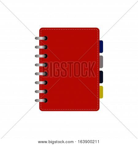 Planners notebook organizer diary paper page business vector. Organizer business diary paper page office empty pad school education.