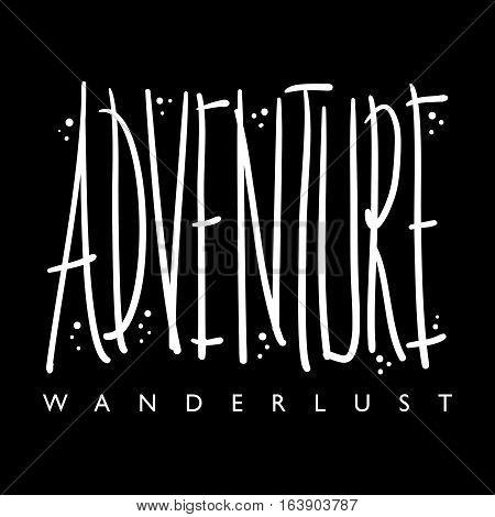 Adventure travel concept t-shirt graphics illustration design