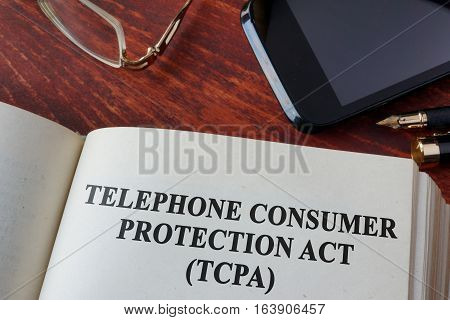 Book with chapter The Telephone Consumer Protection Act of 1991 (TCPA).