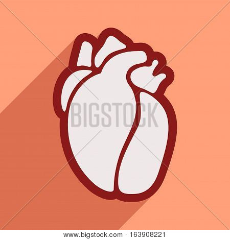 Icon of in human heart flat style