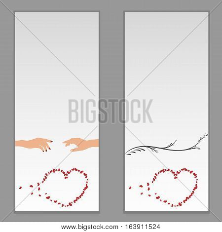 Separation card. Valentine's Day - vector eps 10