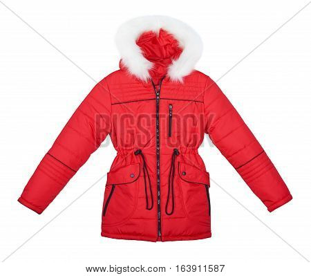 Red Jacket On White Background