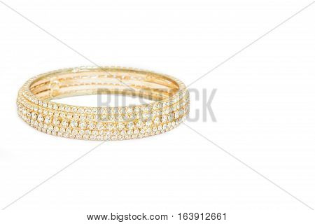 Golden Bracelet Jewelry