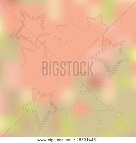Stars on a beige background blurred.Vector illustration.