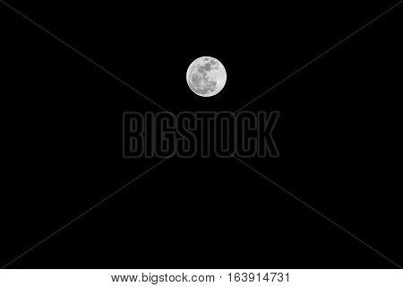 Nature Full moon on the dark night