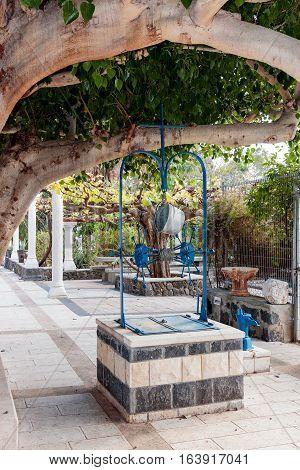 Draw-well In Courtyard Greek Orthodox Monastery Of Twelve Apostles