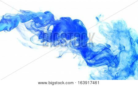 Abstract smoke Weipa. Personal vaporizers fragrant steam. The concept of alternative non-nicotine smoking. Blue vape smoke on a white background. E-cigarette. Evaporator. Taking Close-up. Vaping. poster
