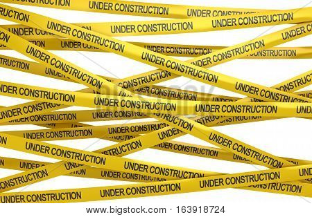 Under construction concept This is a 3d rendered computer generated image. Isolated on white.