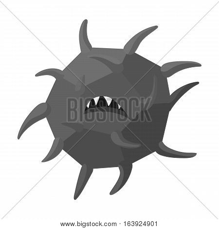 Computer virus icon in outline design isolated on white background. Hackers and hacking symbol stock vector illustration.