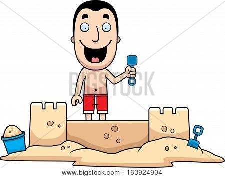 Man Sandcastle