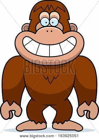 Cartoon Bigfoot Grinning