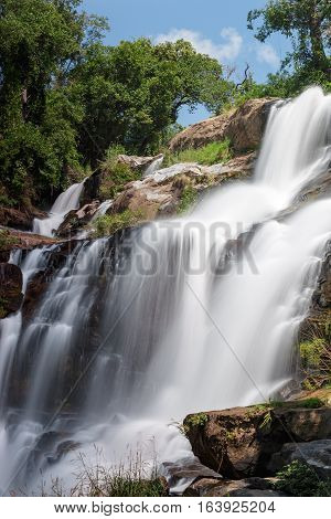 Mae Klang Waterfall In Doi-inthanon Chiangmai , Thailand