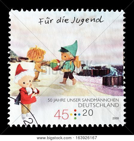 GERMANY - CIRCA 2009 : Cancelled postage stamp printed by Germany, that shows Baltic sea beach.