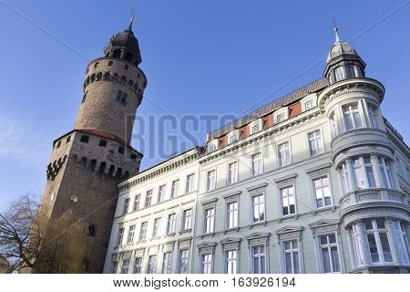 The Reichenbacher Turm tower in the town of Goerlitz, Germany