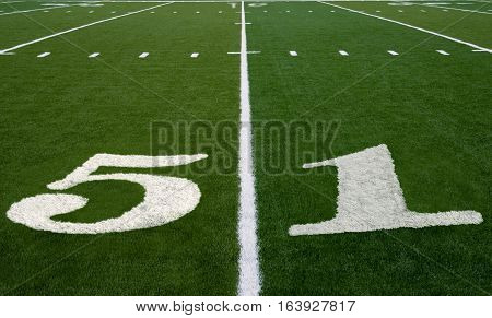 Football field symbolizing Super Bowl 51 in 2017