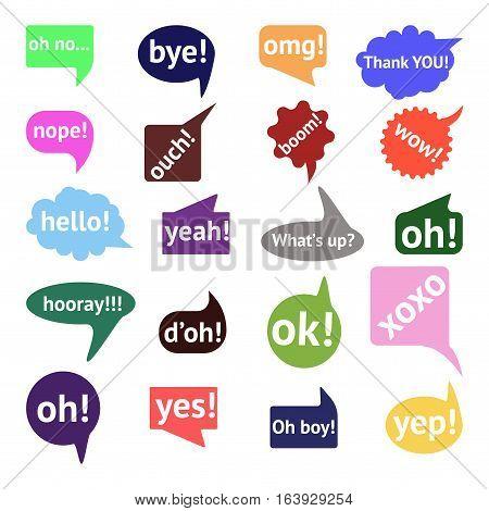 Vector Speech Bubble Colorful Set