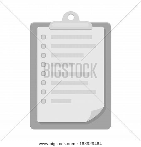 Veterinary pet health card icon in monochrome design isolated on white background. Veterinary clinic symbol stock vector illustration.