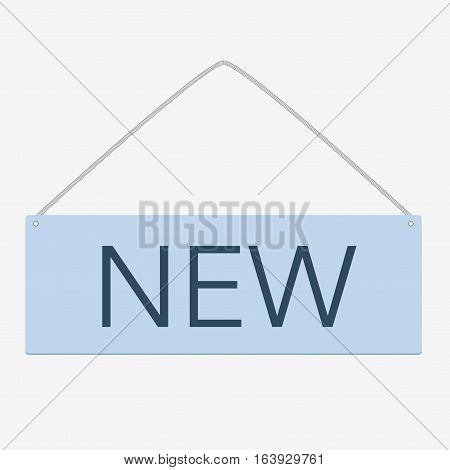 Blue Square Sticker Isolated On White