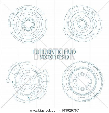 Abstract Circle futuristic elements digital technology background futuristic structure elements concept background design