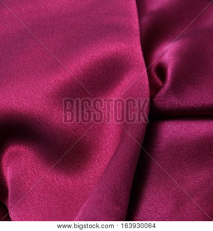 Picture of a Sensuous Smooth Red Satin
