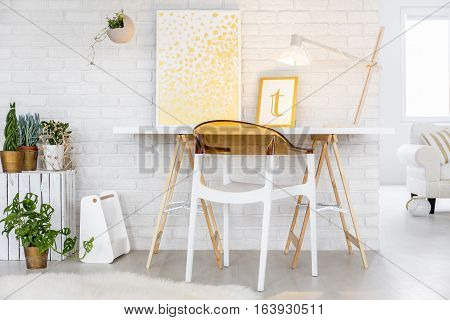 Minimalistic Desk And Chair