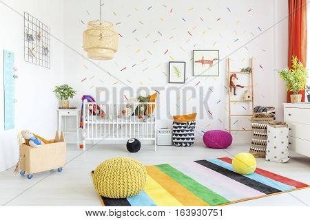 Baby Room With White Wall