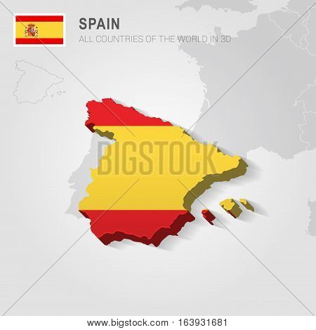 Spain and neighboring countries. Europe administrative map.