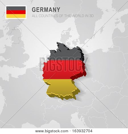 Germany and neighboring countries. Europe administrative map.